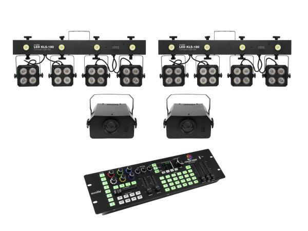 EUROLITE Set 2x LED KLS-180 + 2x LED WF-40 + DMX LED Color Chief Controller