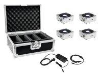 EUROLITE Set 4x AKKU Flat Light 1 silber + Case + Ladegerät