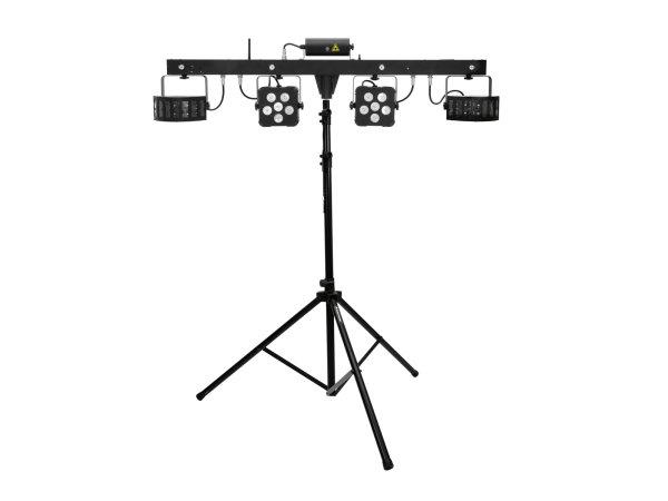 EUROLITE Set LED KLS Laser Bar PRO FX-Lichtset + M-4 Boxenhochständer