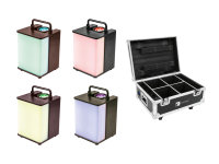 EUROLITE Set 4x AKKU UP-1 Glow QCL + Case mit Ladefunktion