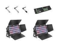 EUROLITE Set 2x Stage Panel 32 + Color Chief + QuickDMX Sender + 2x Empfänger