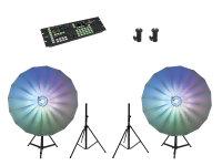 EUROLITE Set 2x LED Umbrella 140 + DMX LED Color Chief +...