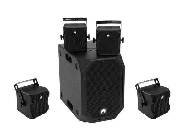 OMNITRONIC Set BOB-10A sw + 4x BOB-4 sw