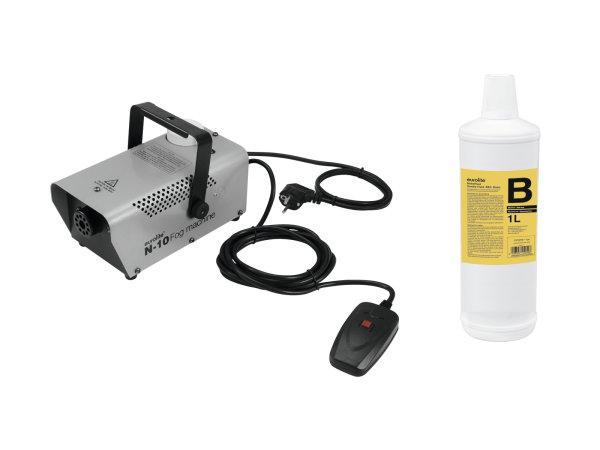 EUROLITE Set N-10 silber + B2D Basic Nebelfluid 1l