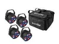 EUROLITE Set 4x LED PARty Spot + Soft-Bag