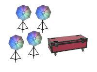 EUROLITE Set 4x LED Umbrella 95 + Case
