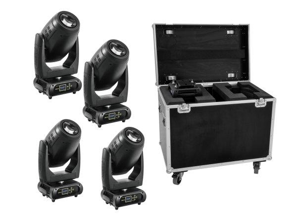 FUTURELIGHT Set 4x DMH-200 LED Moving-Head + Case