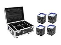 EUROLITE Set 4x AKKU IP UP-4 QCL Spot QuickDMX + Case mit...