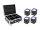 EUROLITE Set 4x AKKU IP UP-4 QCL Spot QuickDMX + Case mit Ladefunktion