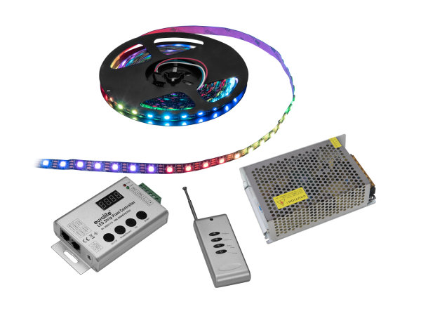 EUROLITE Set LED Pixel Strip RGB 5m + Controller + Trafo 5V