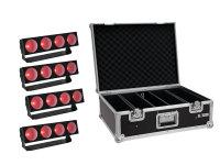 EUROLITE Set 4x LED CBB-4 COB RGB Leiste + Case