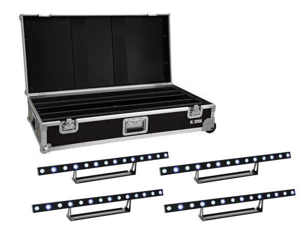 EUROLITE Set 4x LED STP-7 Beam/Wash Bar + Case