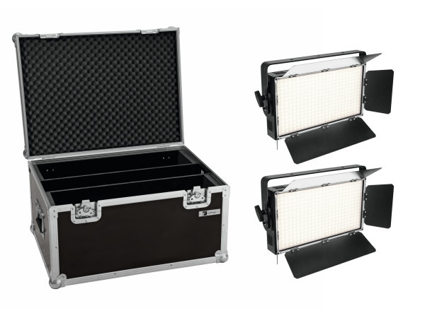 EUROLITE Set 2x LED PLL-360 3200K Panel + Case