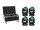 EUROLITE Set 4x LED TMH-X7 Wash Zoom + Case