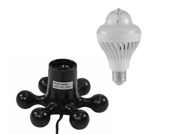 EUROLITE Set LED BCL-1 + Hexopus Fassung schwarz