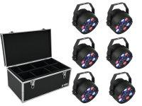 EUROLITE Set 6x LED PARty Spot + Case TDV-1