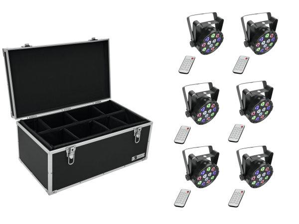 EUROLITE Set 6x AKKU Mini PARty RGBW Spot + Case TDV-1