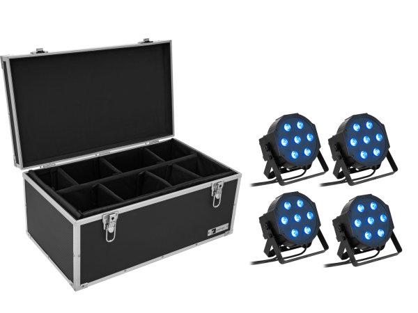 EUROLITE Set 4x LED SLS- QCL Floor + Case TDV-1