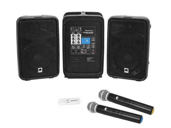 OMNITRONIC Set COMBO-160BT Aktiv-PA-System + UWM-2HH USB Funkmikrofon-Set