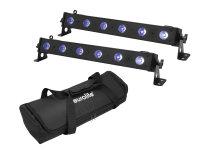EUROLITE Set 2x LED BAR-6 QCL RGB+UV Leiste + Soft-Bag