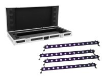 EUROLITE Set 4x LED BAR-12 UV Leiste + Case