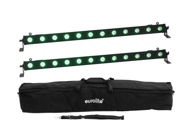 EUROLITE Set 2x LED BAR-12 QCL RGB+UV Leiste + Soft-Bag