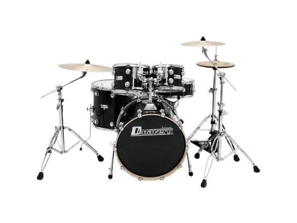 DIMAVERY DS-610 Schlagzeug-Set, Black Sparkle