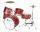 DIMAVERY JDS-305 Kinder Schlagzeug, rot