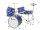 DIMAVERY JDS-305 Kinder Schlagzeug, blau