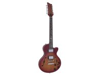 DIMAVERY LP-612 E-Gitarre, flamed sunburst