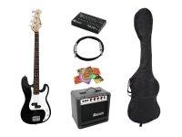 DIMAVERY BGS-10B E-Bass-Set, schwarz