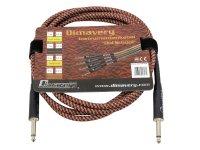 DIMAVERY Instrumenten-Kabel, 3m, br/rt