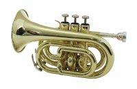 DIMAVERY TP-300 B-Pocket-Trompete, gold
