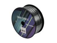 EUROLITE DMX Kabel 2x0,22 100m sw