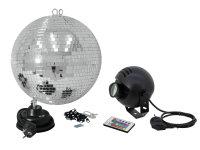 EUROLITE Spiegelkugelset 30cm mit LED-RGB-Spot FB