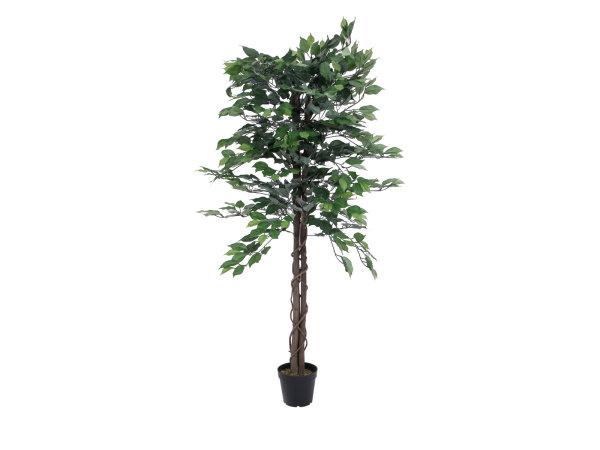 EUROPALMS Ficus-Benjamini Multi-Stamm, Kunstpflanze, 150cm