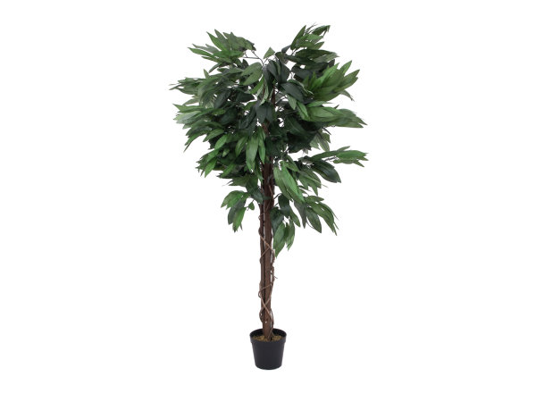 EUROPALMS Dschungelbaum Mango, Kunstpflanze, 150cm