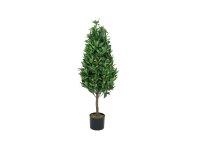 EUROPALMS Lorbeerkegelbaum, hochstamm, Kunstpflanze, 120cm