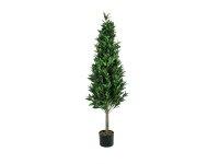 EUROPALMS Lorbeerkegelbaum, hochstamm, Kunstpflanze, 150cm
