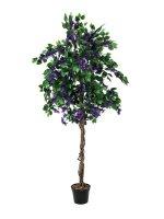 EUROPALMS Bougainvillea, lavendel, Kunstpflanze, 180cm