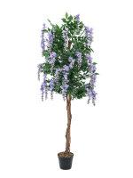 EUROPALMS Goldregenbaum, Kunstpflanze, violett, 150cm