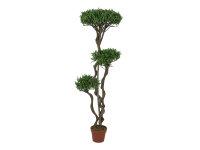 EUROPALMS Bonsai-Palmenbaum, Multistamm, Kunstpflanze, 130cm