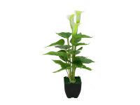 EUROPALMS Calla mini, Kunstpflanze, weiß, 43cm