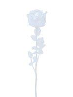 EUROPALMS Kristallrose, Kunstblume, transparent, 81cm 12x