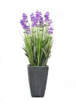 EUROPALMS Lavendel, Kunstpflanze, lila, im Dekotopf, 45cm