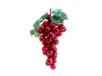EUROPALMS Trauben mit Blättern, künstlich, rot