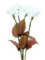 EUROPALMS Hortensie, weiß mit Blüten, 100 LEDs