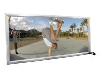 EUROPALMS Reklamewand, beleuchtet, aluminium, 1x2m