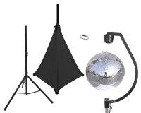 EUROLITE Set Spiegelkugel 50cm mit Stativ und Segel schwarz