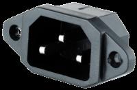 Kaltgeräte-Einbaustecker, 3-pins IEC panel,...